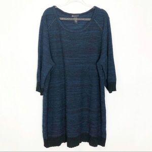 EUC Lane Bryant teal Marled sweater dress